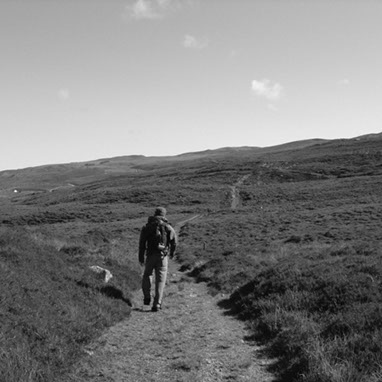 taken on Raasay Island with the photographer hiking on the area.